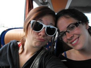 Us on the bus.