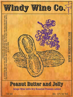 Peanut Butter and Jelly wine is a creation by Windy Wine Company in Missouri.