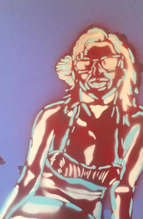 Katy Perry. Spray paint. Mollie Barnes.