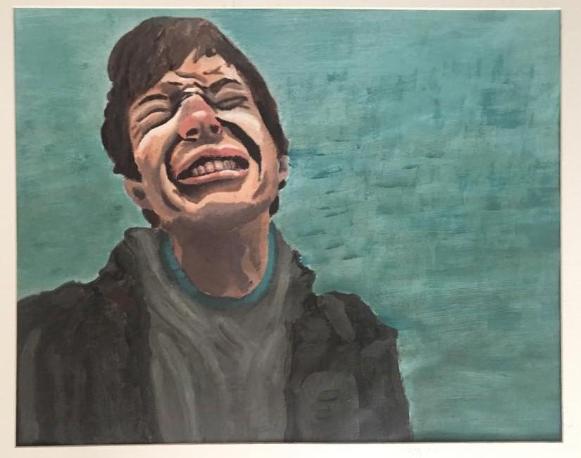 CD. Acrylic on canvas. Mollie Barnes. 2011.