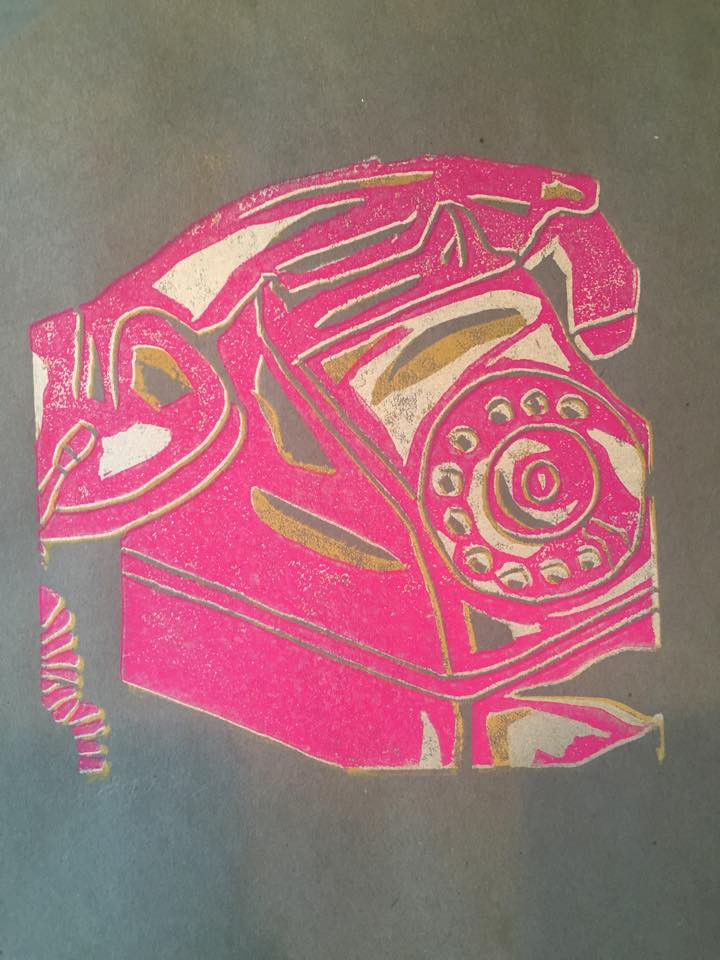Ink print. Mollie Barnes.